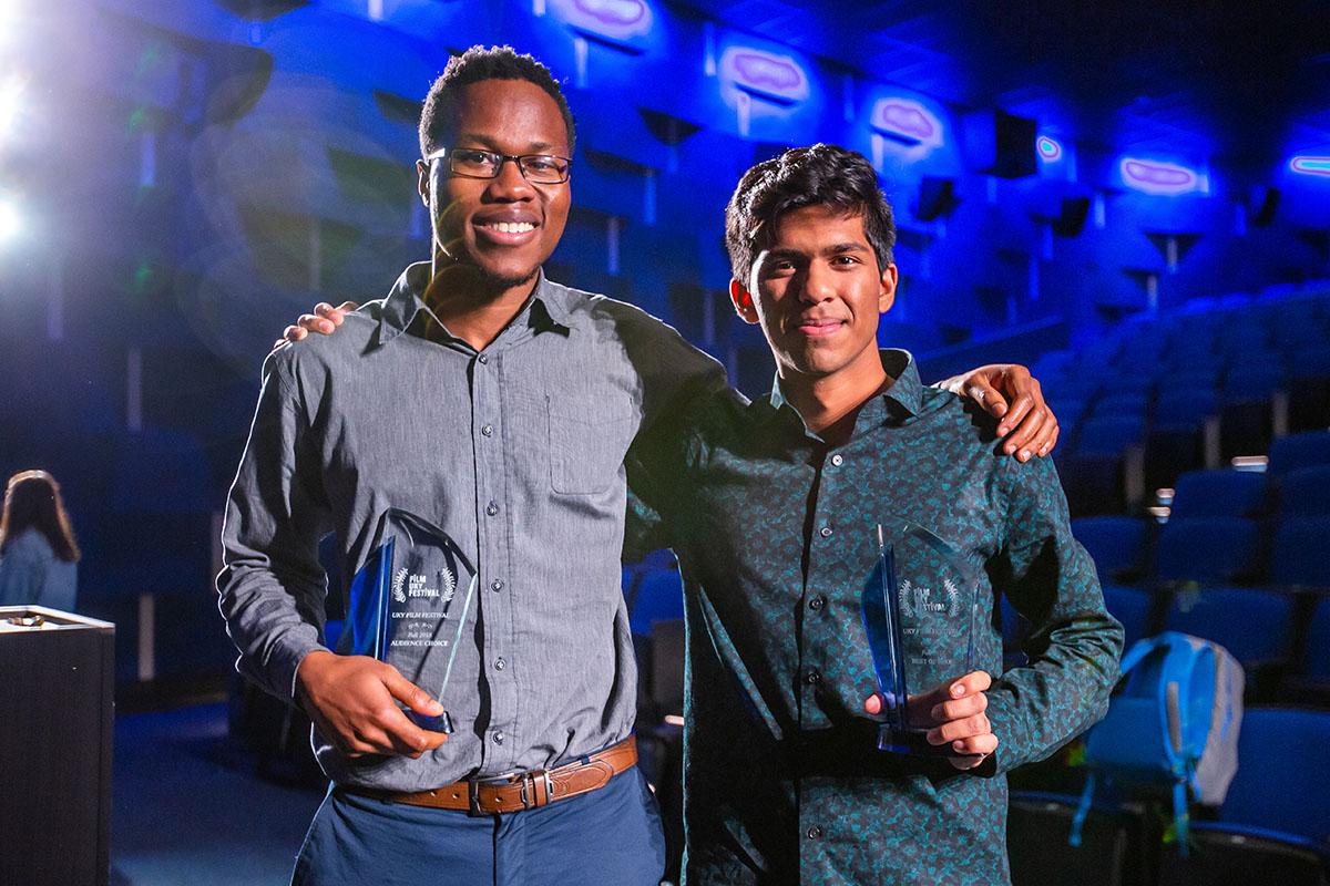 Monon Rahman (right) won
