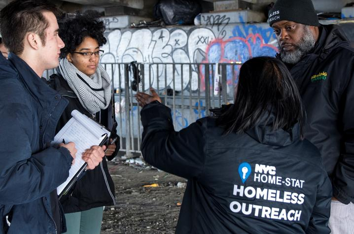 The team hit the ground running, starting with an outreach ride-along in Brooklyn and Queens. Photo by: Breaking Ground.