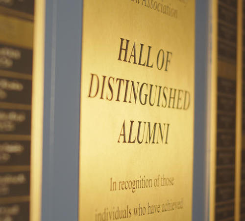 Inductees are added to the Hall of Distinguished Alumni every five years.