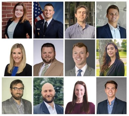The 12 newest members of the Young Alumni Philanthropy Council