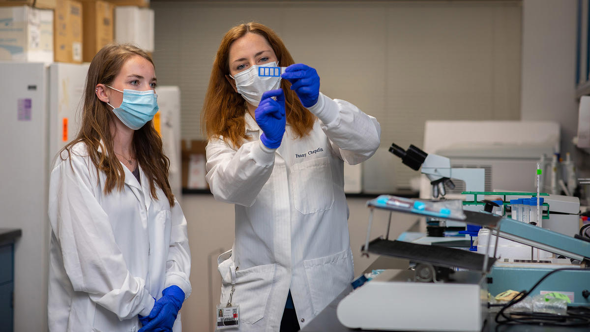 Fanny Chapelin's lab develops non-invasive magnetic resonance imaging (MRI) methods to track immune cell migration to inflammation in different pathologies such as transplant rejection, autoimmune diseases and cancer.
